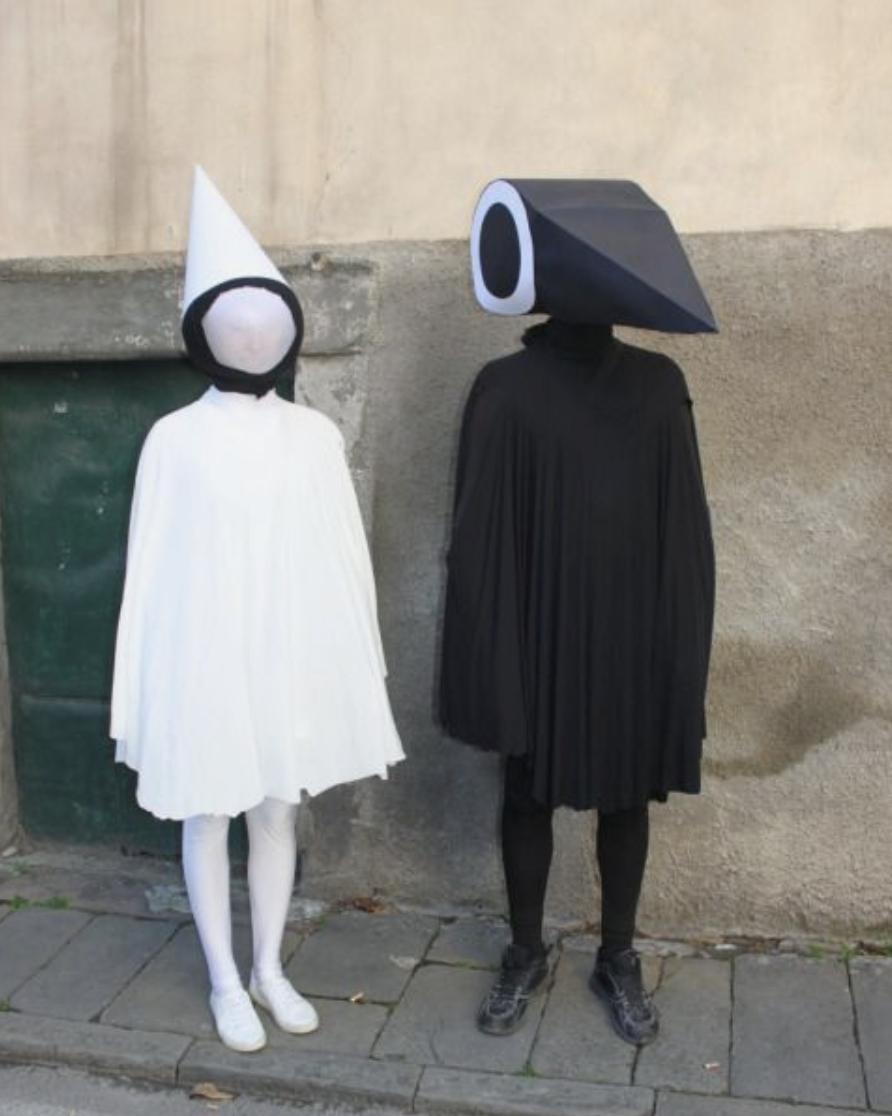 геометричен костюм за музикален фестивал
